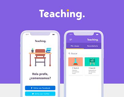 Teaching App - UI / UX Design