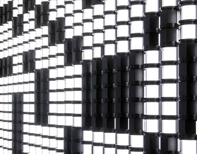 true/false – kinetic light sculpture
