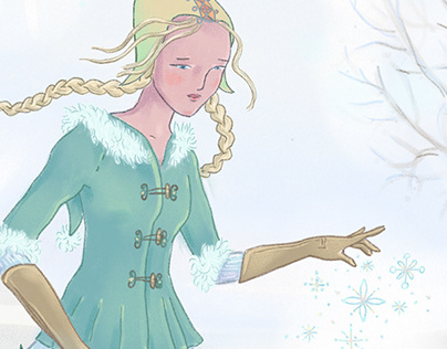 winter charm #digital illustration #winter #fairytale