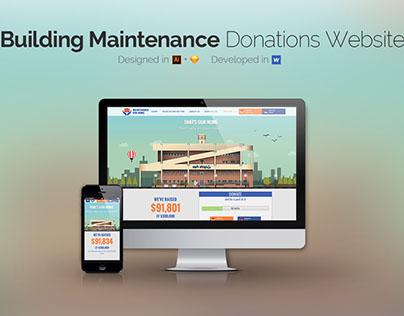 Donations website design & development