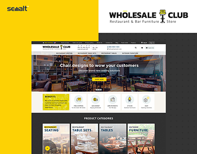 E-commerce portal for brand Wholesale Club 💛