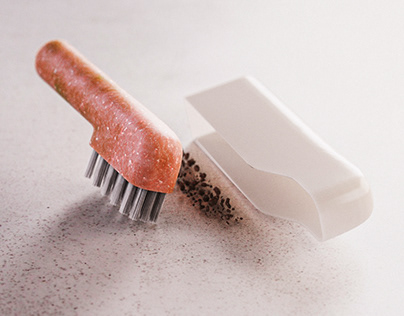 HIDE & SWEEP. Conceptual Dustpan and Brush.