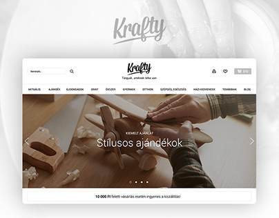 Krafty online marketplace branding & UX/UI design