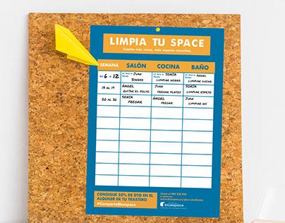 Bluespace - Tabla de tareas