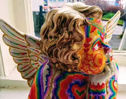 Rainbow Angel Statue