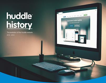 Huddle History - The evolution of the Huddle website