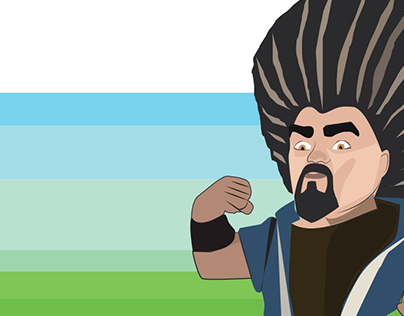 Cartoon Character Design Illustration