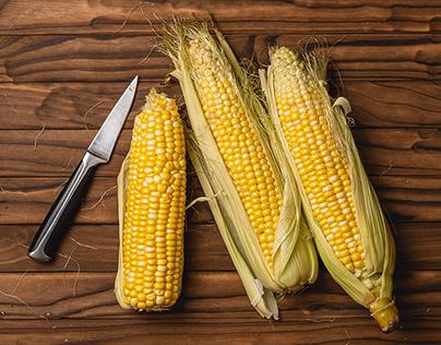 Autumn corn still-life