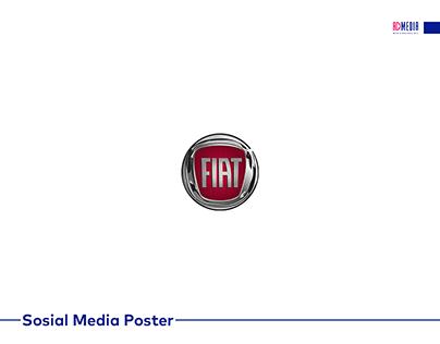 Fiat üçün hazırlanmış sosial media posterləri