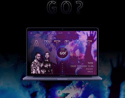 ARTBAT. Landing Page for dj's performance invitation