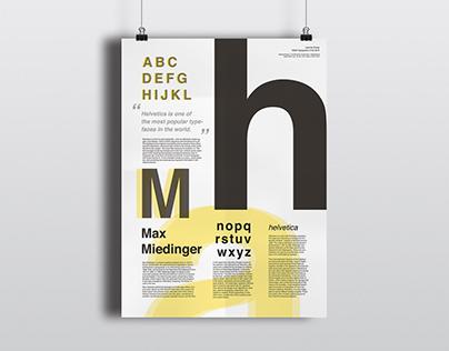 Helvetica – Typographic Poster
