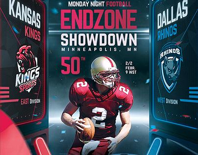 Football Superball Flyer v8 American Football Poster