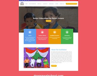WordPress website for DG Agrawal School