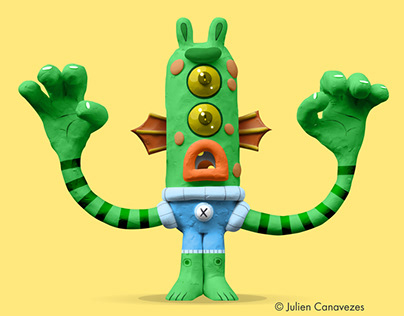 plasticine character design