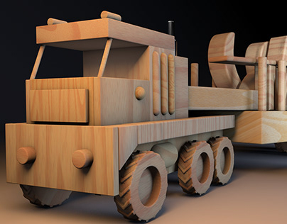 """C4D """"animated wooden toys"""""""