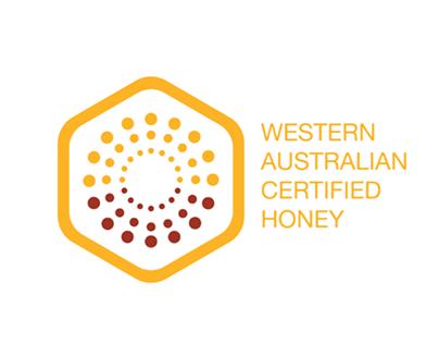 Quality trade mark branding for WA Certified Honey.