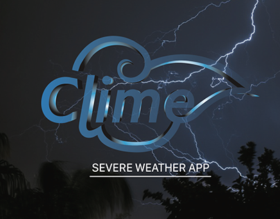Clime Severe Weather App.