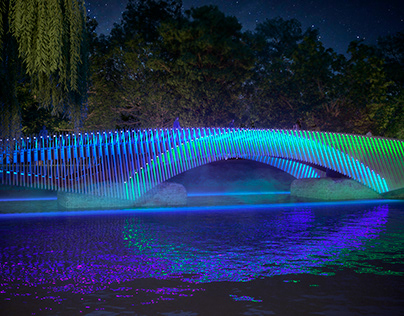 Lighting project for the bridge
