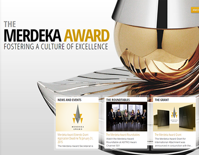 Merdeka Award - Web Design 2012