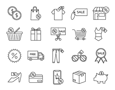 20 Sale Vector Icons