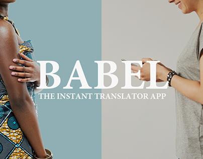 Babel - The Translator App for Tourists