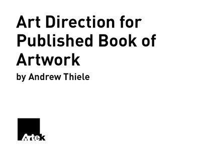 Art Direction for Published Book of Artwork
