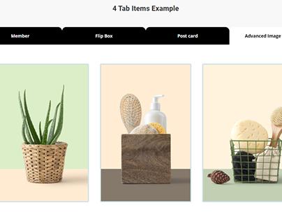 Tabs 4 Tab Items Example by WordPress