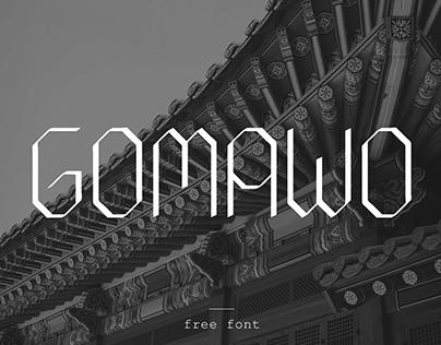 Free font: Gomawo