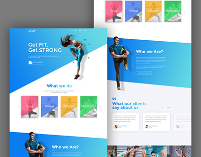 Modern Web Design for Extreme Athlete Company
