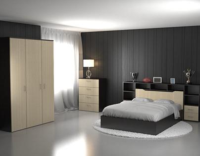 визуализация мебели для спальной