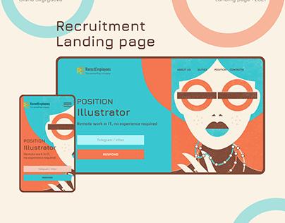 Recruitment Landing page