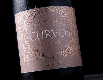 Espumante Curvos    Wine Packaging Design