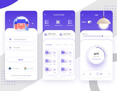 Smart Home UI app design
