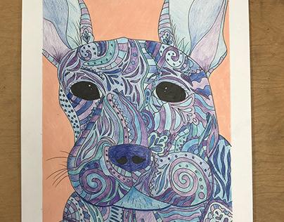 Bella Rubal P.7- Colorful Dog