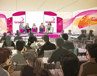 Beurspresentatie / evenement schetsen Lixiana