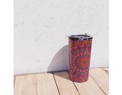 Night Love Garden Mandala Travel Mug
