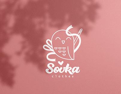 Sovka clothes - логотип для ателье детской одежды.