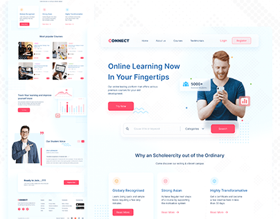 E learning Agency Landing Page