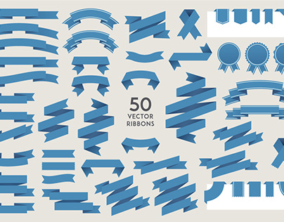 Set of 50 ribbons