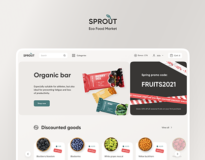 E-Commerce. Sprout Eco Food Market