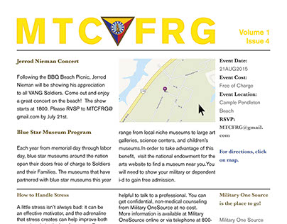 Maneuver Training Center FRG Newsletter