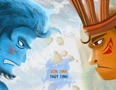 LEGEND OF SON TINH (MOUNTAIN SPIRIT) AND THUY TINH (SEA