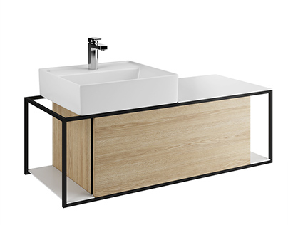 3d model: Junit Washbasin Unit by Burgbad