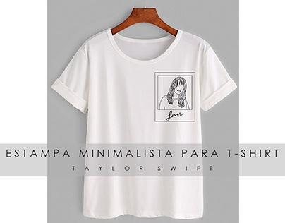 Estampa Minimalista Para T-shirt #1 Taylor Swift