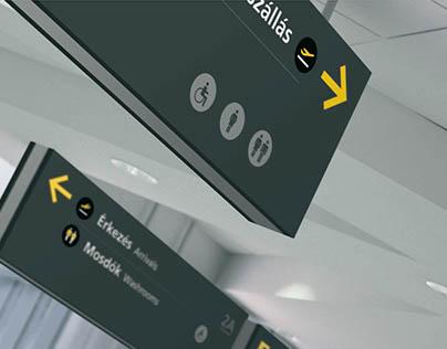 Budapest Airport Terminal 2 _ signage concept