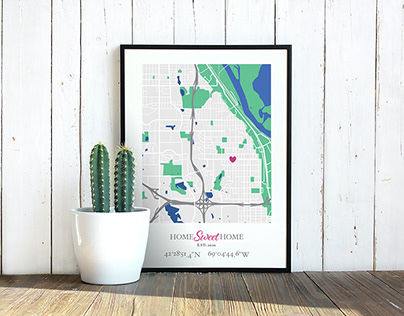 Illustration | Home Sweet Home Map