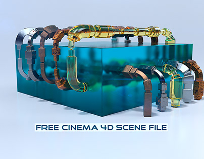 Pipe Generator   Fully Rigged Free Cinema 4D Scene File