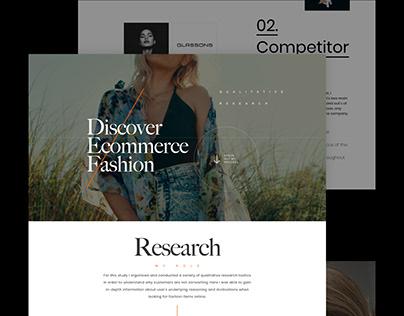 UX Research: Fashion case study