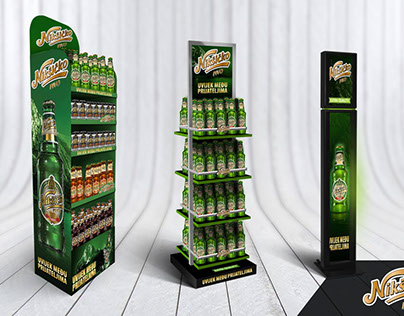 Nikshichko Beer Displays