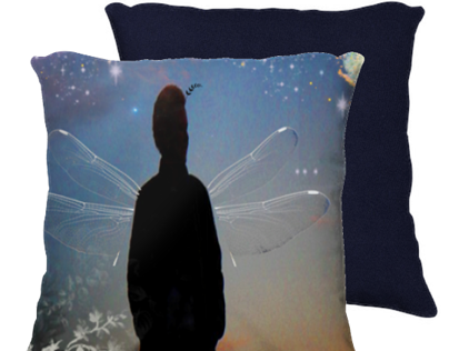 I do believe in Faeries - scatter cushion cover
